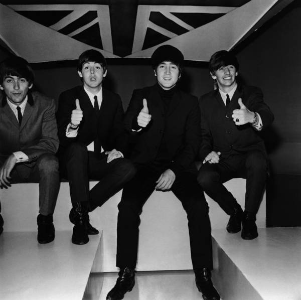 British Culture Photograph - Beatles Thumbs Up by Jim Gray