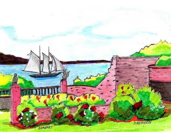 Wall Art - Drawing - Beauport  Gloucester by Paul Meinerth
