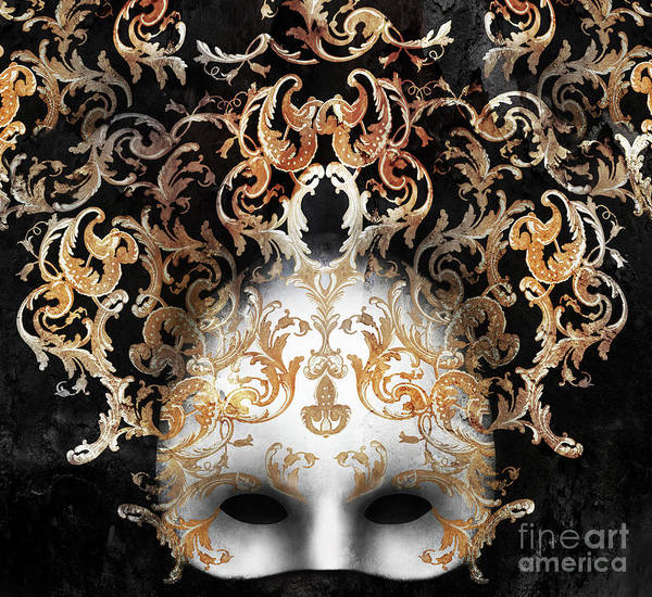 Masquerade Wall Art - Photograph - Beautiful And Elegant Venetian Mask by Valentina Photos