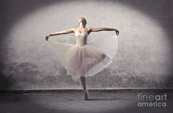 Wall Art - Photograph - Beautiful Ballerina Dancing by Ollyy
