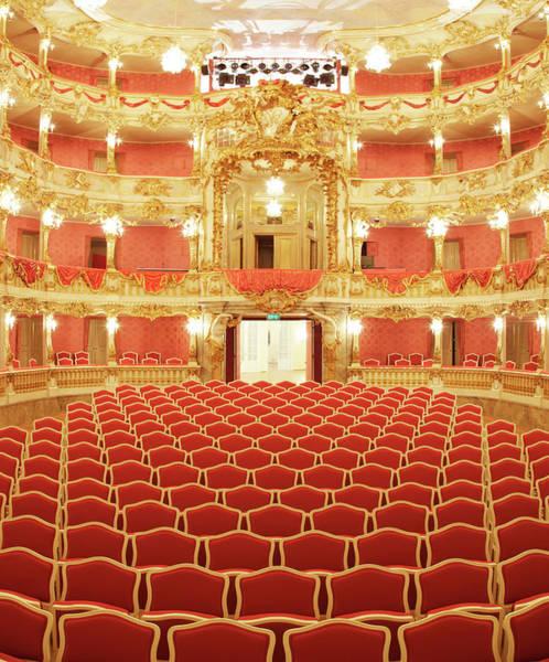 Auditorium Photograph - Beautiful Baroque Theater by Sebastian-julian