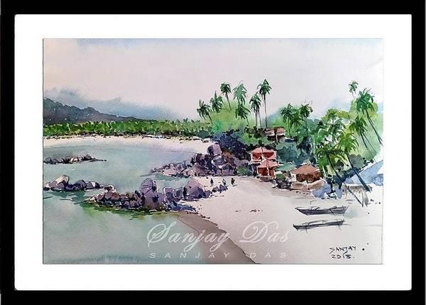 Beautiful Beach In Goa India Art Print