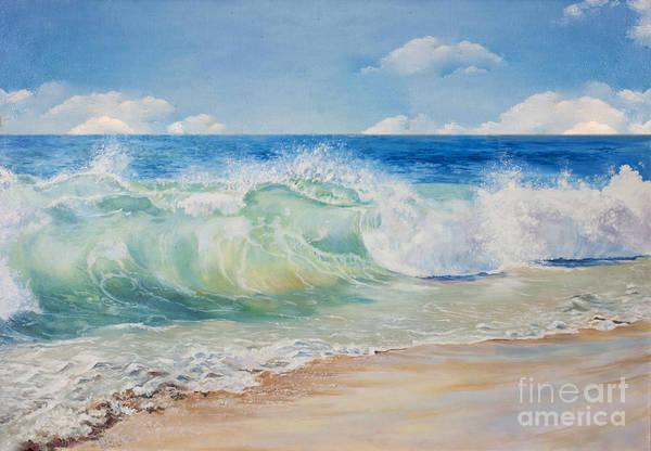 Clipper Wall Art - Digital Art - Beautiful, Blue, Tropical Sea And Beach by Elzza