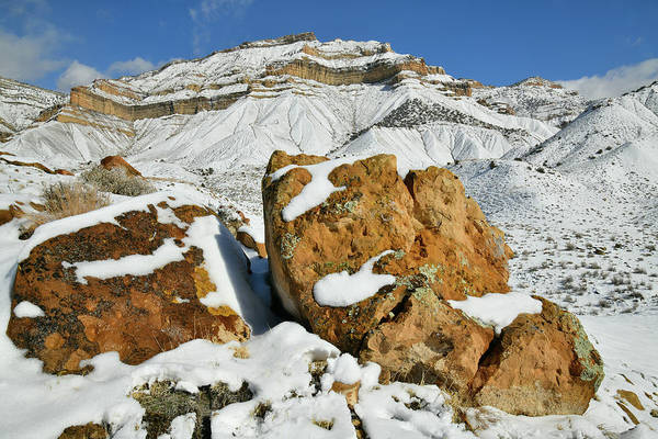 Photograph - Beautiful Book Cliffs In Winter by Ray Mathis