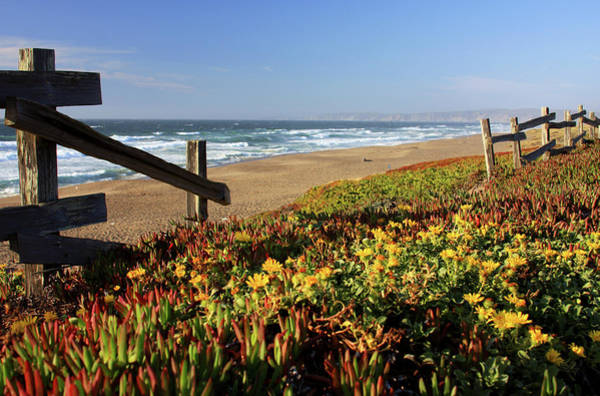 Monterey Bay Photograph - Beautiful California Beach Scene And by Ejs9