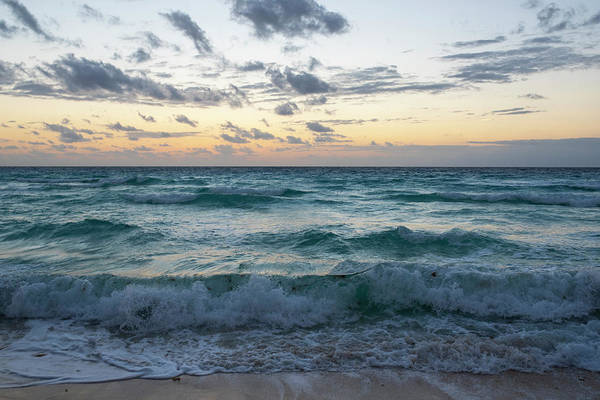 Photograph - Beautiful Cancun Sunrise Cancun Mexico Yellow Sky by Toby McGuire