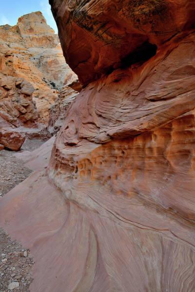 Photograph - Beautiful Canyon Walls In Utah Slot Canyon by Ray Mathis