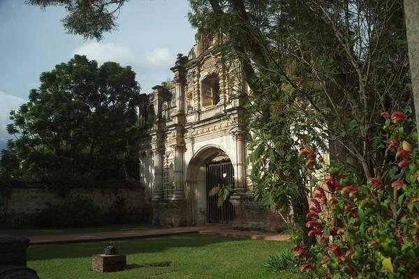 Wall Art - Photograph - Beautiful Church Ruins In Guatemala by Douglas Barnett