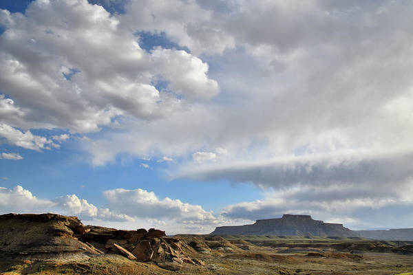 Photograph - Beautiful Clouds Over Luna Mesa In Utah by Ray Mathis