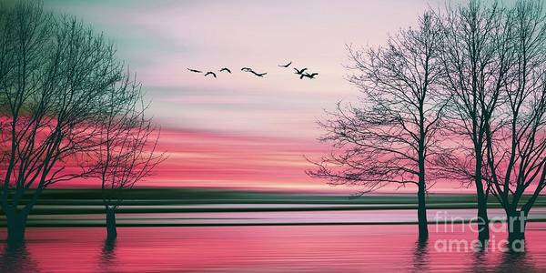 Beautiful Sky Digital Art - Beautiful Colorful Natural Landscape by Eva Bidiuk