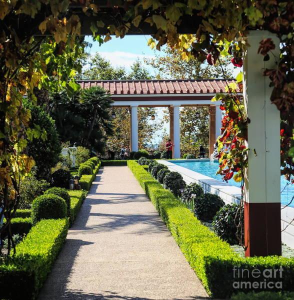 Wall Art - Photograph - Beautiful Courtyard Getty Villa  by Chuck Kuhn