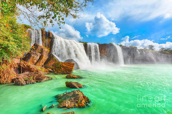 Wall Art - Photograph - Beautiful Dry Nur Waterfall In Vietnam by Khoroshunova Olga