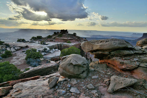 Photograph - Beautiful Evening At Canyonlands Orange Cliffs by Ray Mathis