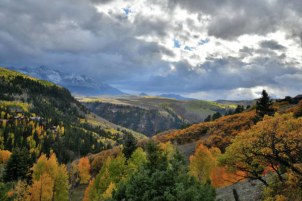 Photograph - Beautiful Fall Colors Seen From Airport In Telluride by Ray Mathis