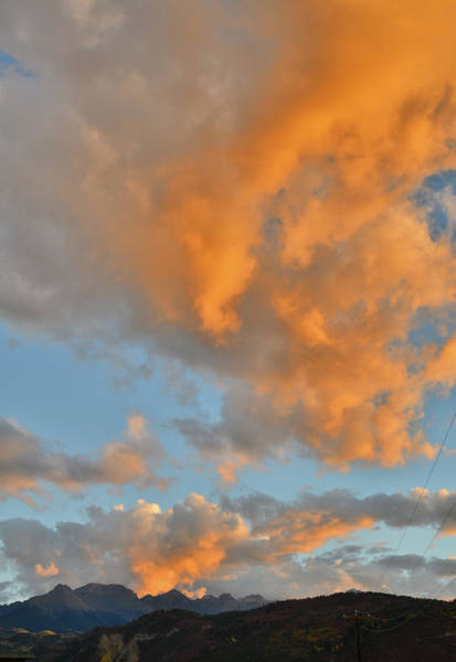 Photograph - Beautiful Fall Sunset Over Ridgway Colorado by Ray Mathis