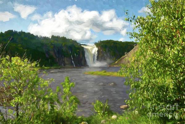 Quebec City Digital Art - Beautiful Falls by Amy Dundon