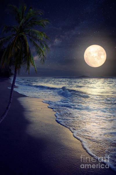 Caribbean Coast Photograph - Beautiful Fantasy Tropical Beach With by Jakkapan