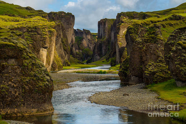 Wall Art - Photograph - Beautiful Fjadrargljufur Canyon With by Mantadilok