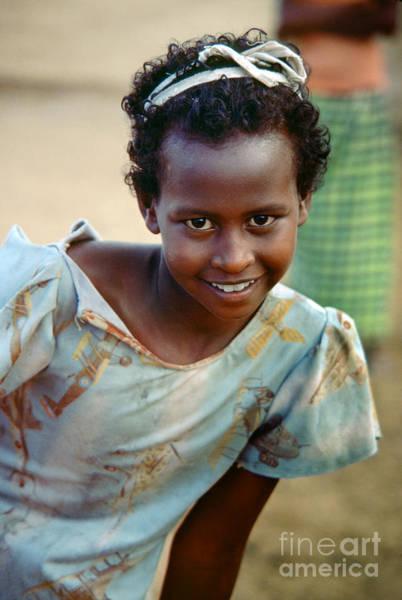 Mogadishu Wall Art - Photograph - Beautiful Girl Smiling In Mogadishu Somalia by Wernher Krutein
