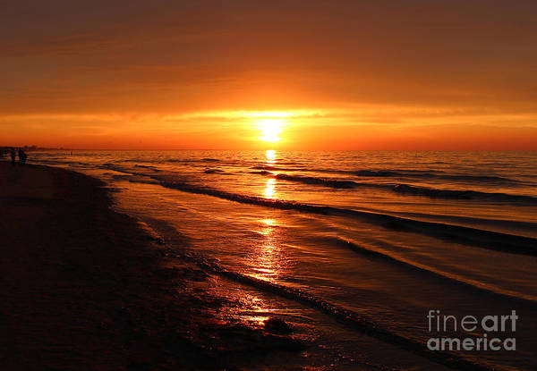 Beautiful Sunrise Photograph - Beautiful Golden Landscape Of Summer by Evgenyshch