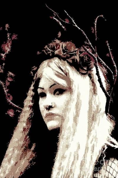 Photograph - Beautiful Goth  by Nigel Dudson