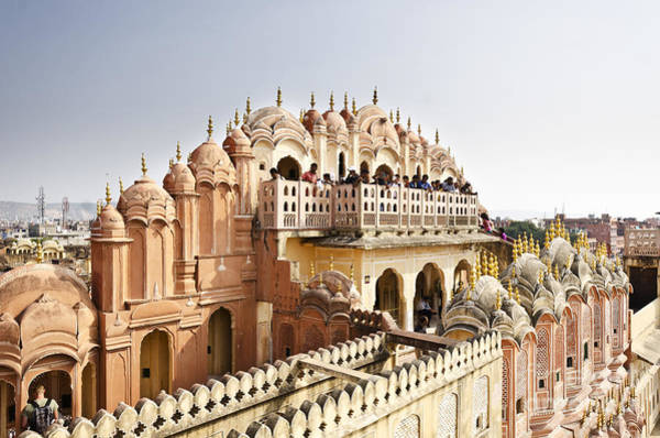 Hinduism Wall Art - Photograph - Beautiful Hawa Mahal At Jaipur by Tusharkoley