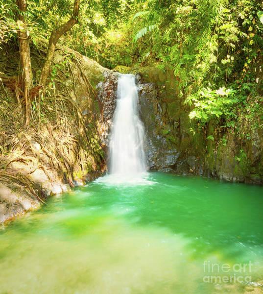 Wall Art - Photograph - Beautiful Kaeng Nyui Waterfalls. Laos Landscape. by MotHaiBaPhoto Prints