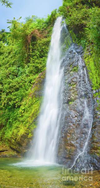 Wall Art - Photograph - Beautiful Kaeng Nyui Waterfalls. Laos Landscape. Vertical Panora by MotHaiBaPhoto Prints