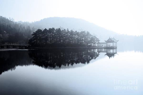 Beautiful Lake Like A Painting Art Print