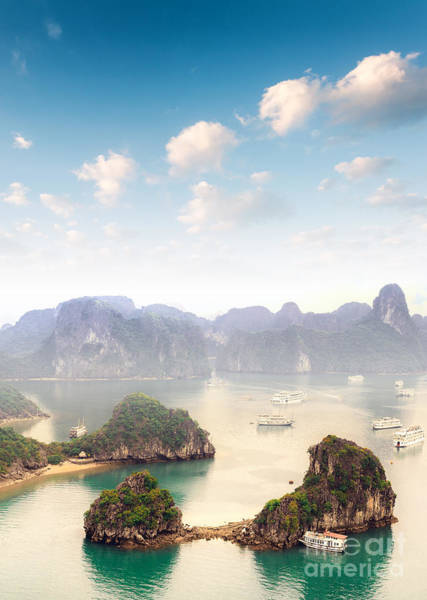 Wall Art - Photograph - Beautiful Landscape Of Halong Bay In by Banana Republic Images