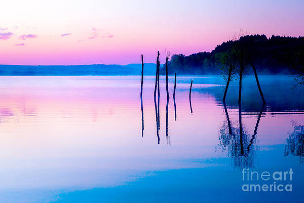 Poetic Photograph - Beautiful Landscape With A Lake And by Jozef Klopacka