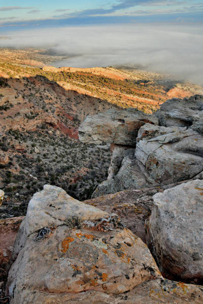Photograph - Beautiful Ledge Overlooking Grand Valley Fog Below by Ray Mathis