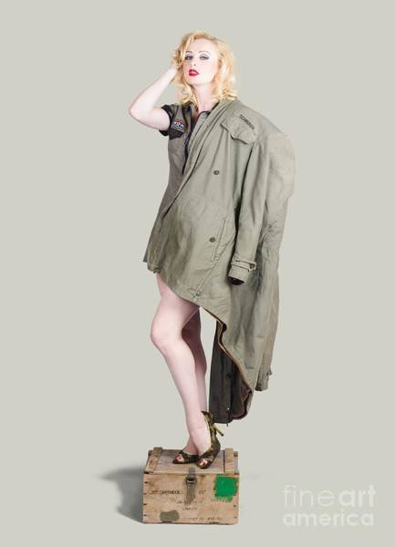 Cold War Photograph - Beautiful Military Pinup Girl. Classic Beauty by Jorgo Photography - Wall Art Gallery