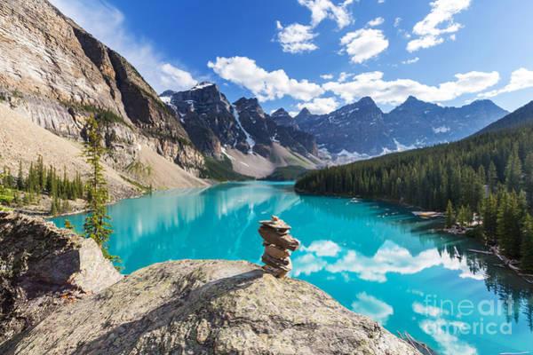 Banff Wall Art - Photograph - Beautiful Moraine Lake In Banff by Galyna Andrushko
