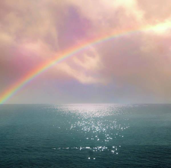 Beautiful Morning In Dreamland With Rainbow Art Print