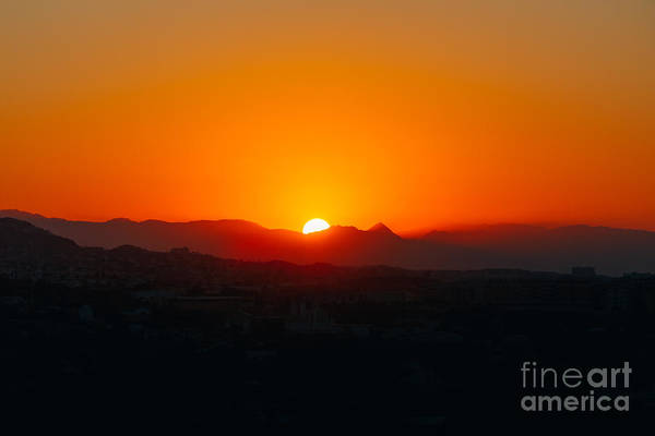 Wall Art - Photograph - Beautiful Mountain And Sunset Over by Grisha Bruev