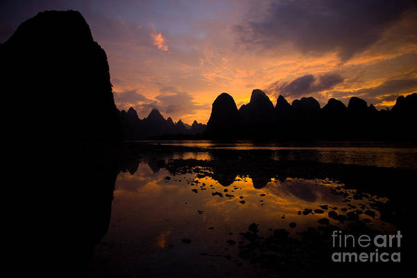Dusk Wall Art - Photograph - Beautiful Nature Scene Of A Motion by Pius Lee