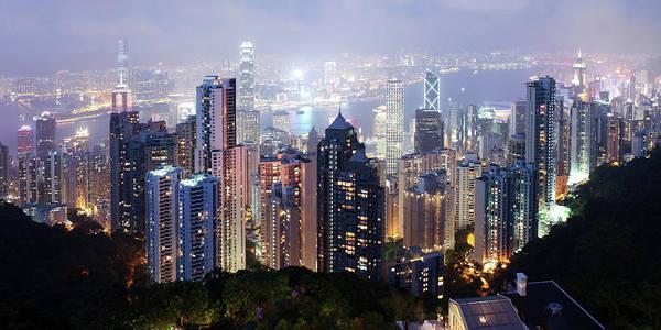 Villa Photograph - Beautiful Night Scene Of Hong Kong by Phototalk