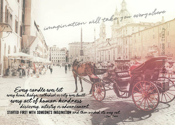 Photograph - Beautiful Piazza Quote by JAMART Photography