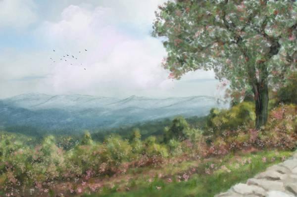 Shrub Mixed Media - Beautiful Picnic Area by Mary Timman
