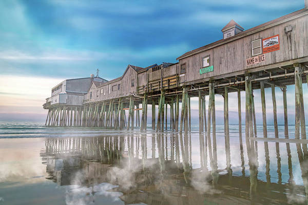 Orchard Beach Photograph - Beautiful Pier Maine Morning by Betsy Knapp