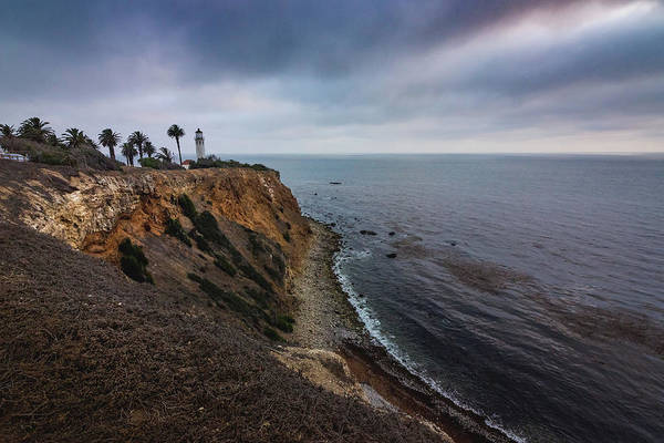 Photograph - Beautiful Point Vicente Lighthouse On A Cloudy Day by Andy Konieczny