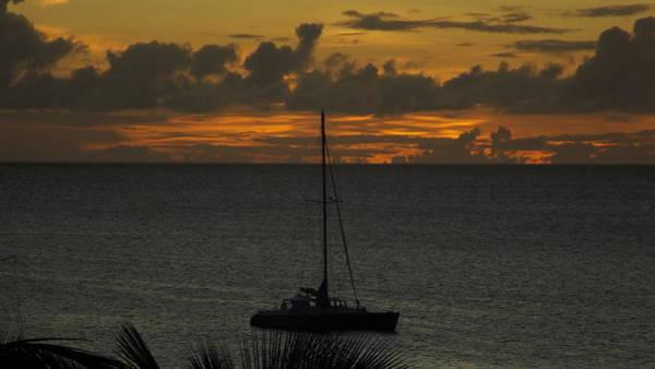 Wall Art - Photograph - Deep Golden Skies And A Catamaran At Sunset In Aruba by James Turnbull