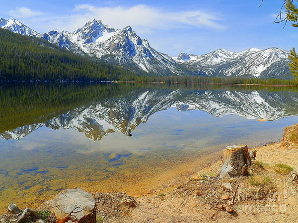 Wall Art - Photograph - Beautiful Stanley Lake Sawtooth Mountains Stanley Idaho by Art Sandi
