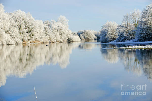 Beautiful Sunny Day In The Winter On Art Print