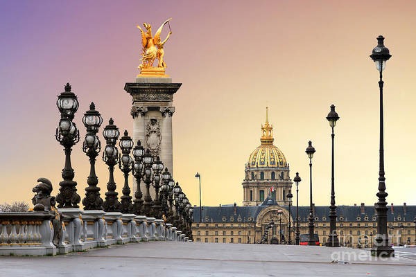 Beautiful Sunrise At The Pont Alexandre Art Print
