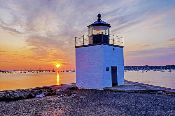 Photograph - Beautiful Sunrise On Derby Wharf Salem Ma Derby Light by Toby McGuire