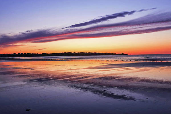 Photograph - Beautiful Sunrise Over Long Sands Beach York Maine Long Beach Reflection by Toby McGuire