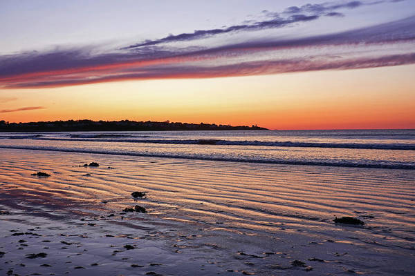 Photograph - Beautiful Sunrise Over Long Sands Beach York Maine Long Beach by Toby McGuire
