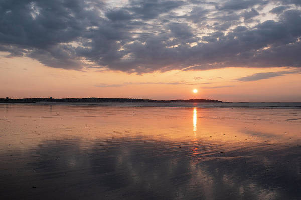 Photograph - Beautiful Sunrise Over Nahant Beach Reflection Nahant Ma by Toby McGuire